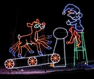 Rudolph on Treadmill at Santa Claus Land of Lights