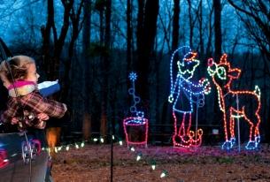 Rudolph Scene at Santa Claus Land of Lights
