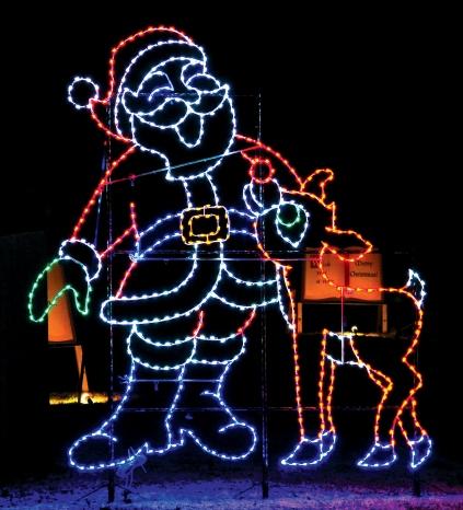 Santa and Rudy at Santa Claus Land of Lights