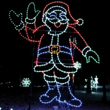 Santa Waving at Santa Claus Land of Lights